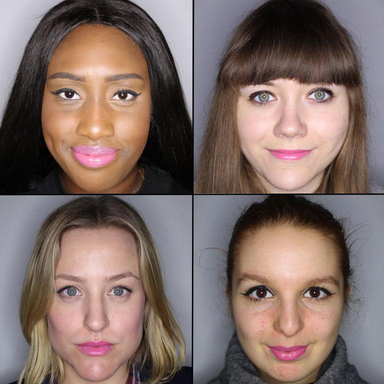 batom pink em 100 mulheres diferentes 11