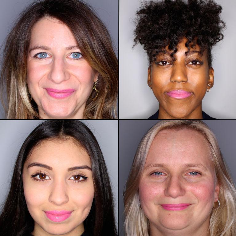 batom pink em 100 mulheres diferentes 12