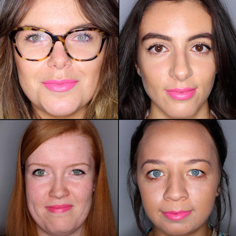 batom pink em 100 mulheres diferentes 17
