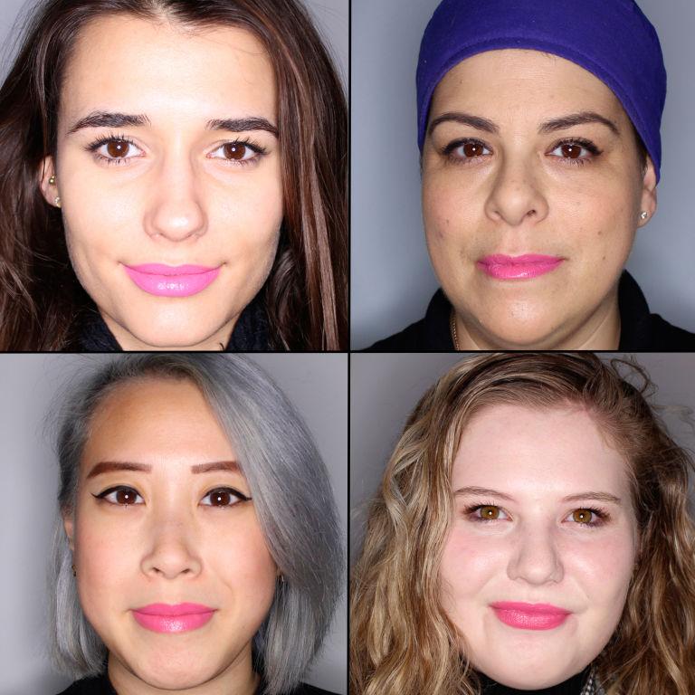 batom pink em 100 mulheres diferentes 19