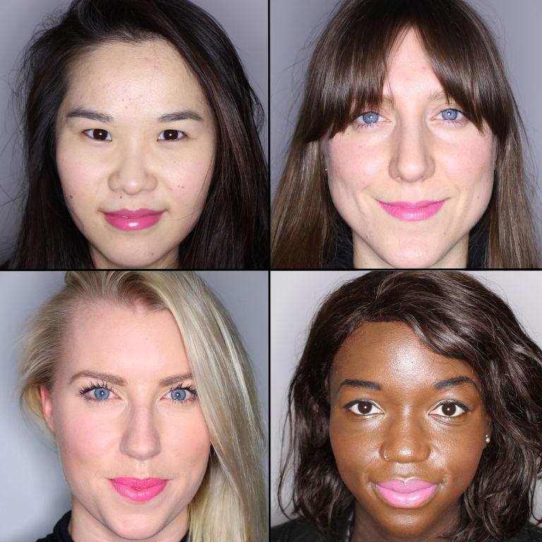 batom pink em 100 mulheres diferentes 22