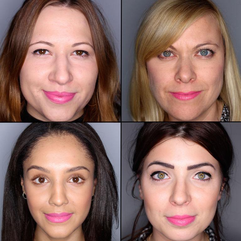 batom pink em 100 mulheres diferentes 23