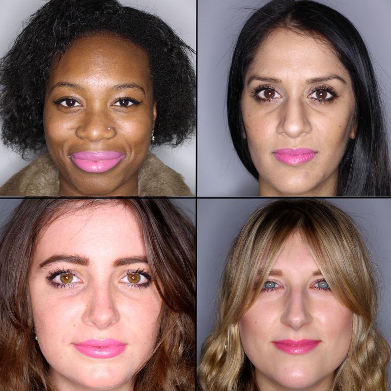 batom pink em 100 mulheres diferentes 4