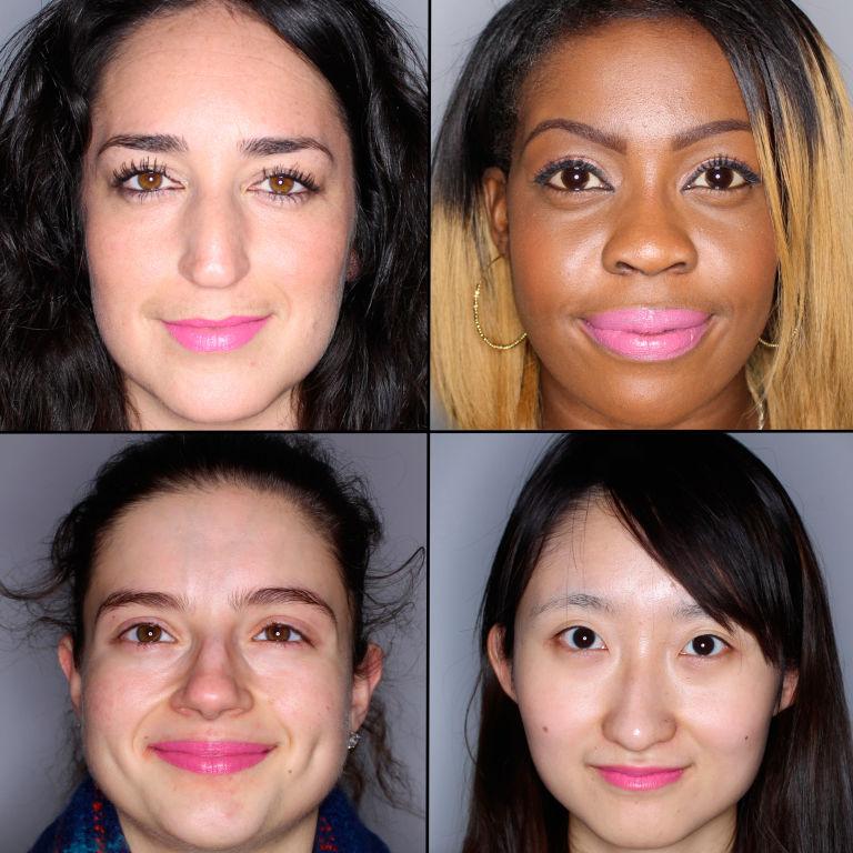 batom pink em 100 mulheres diferentes 6
