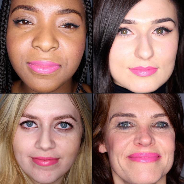 batom pink em 100 mulheres diferentes 7