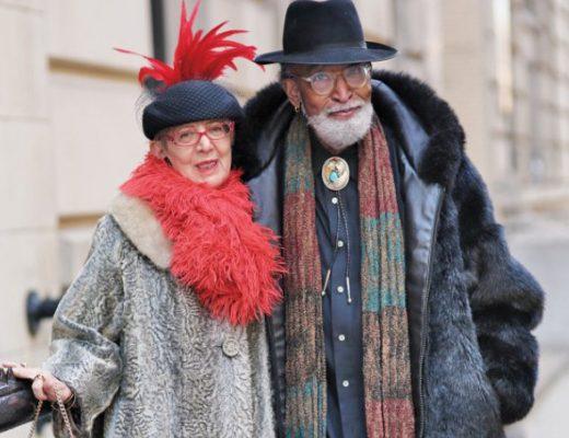 casal de idosos fashionistas