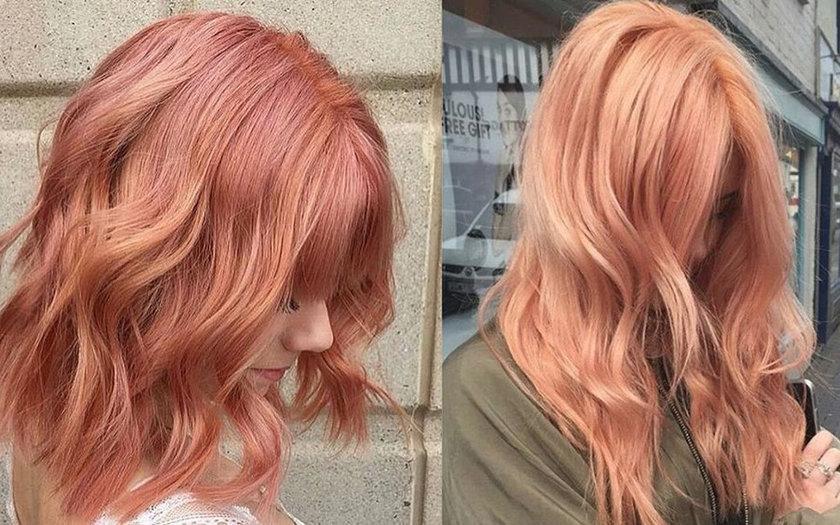 Blorange tendência coloração cabelos