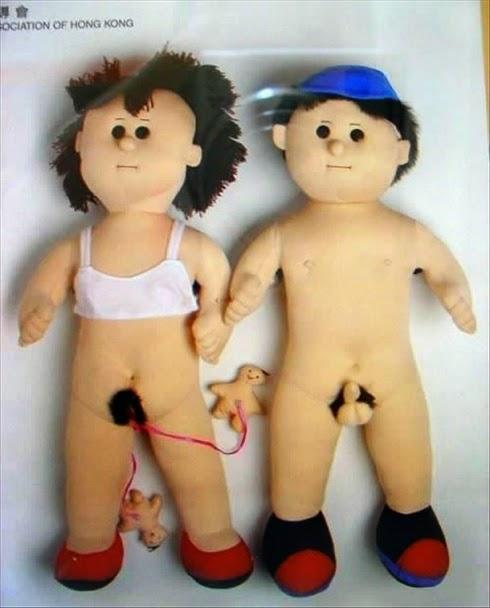 Bonecos de pano na puberdade