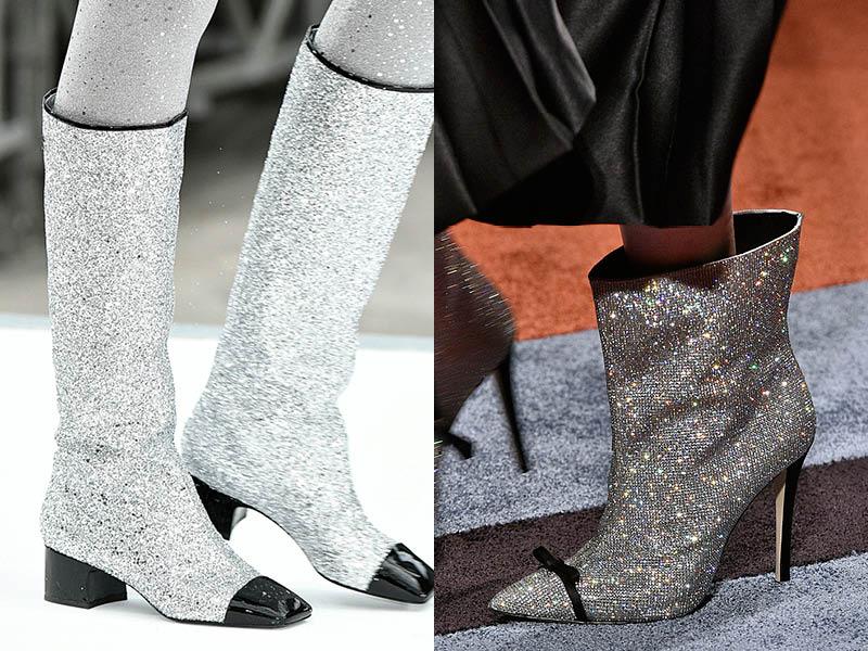 botas com brilho