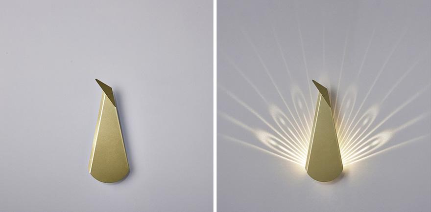 luminárias minimalistas que ganham vida quando acesas