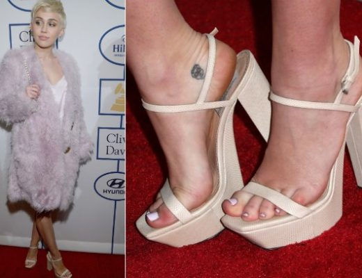 pés das famosas