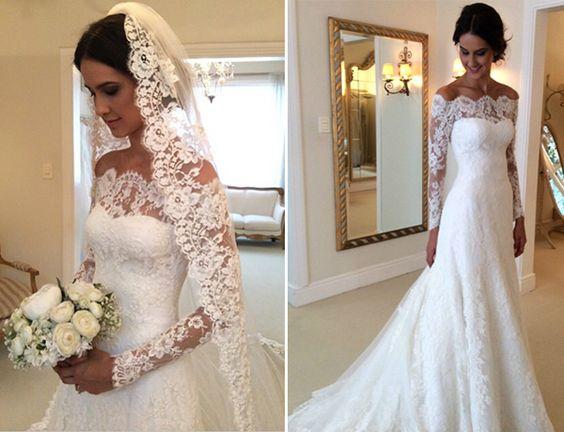 vestido noiva decote ombro a ombro 2