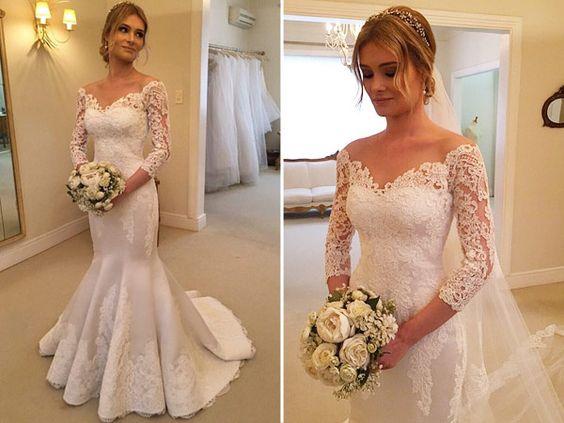 vestido noiva decote ombro a ombro 5