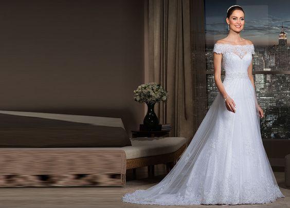 vestido noiva decote ombro a ombro 8