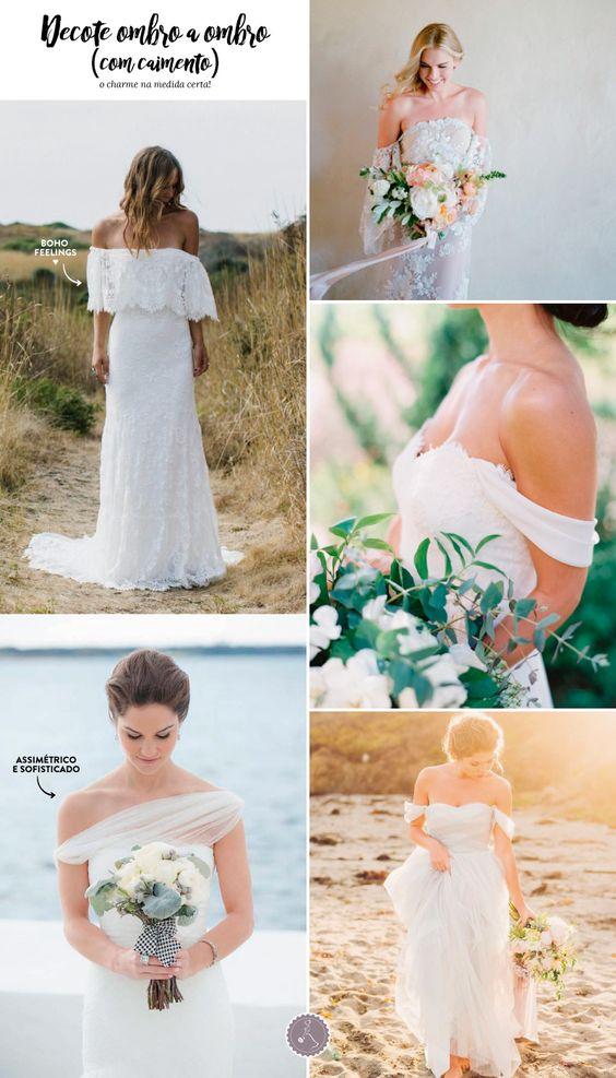 vestido noiva decote ombro a ombro