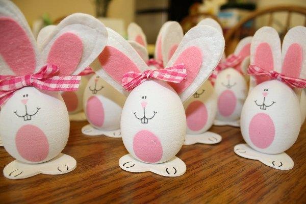 Decoração de Páscoa com casca de ovo 1