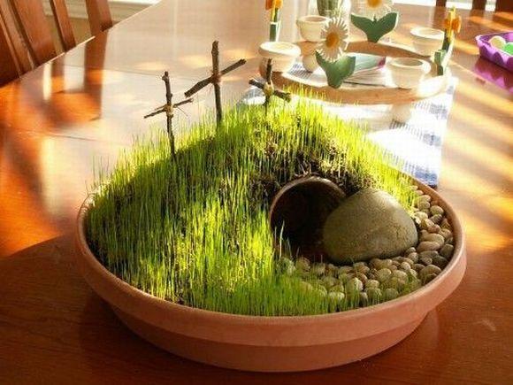 Decoração de Páscoa com elementos religiosos 1