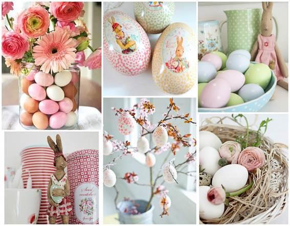 Decoração de Páscoa criativa com ovos