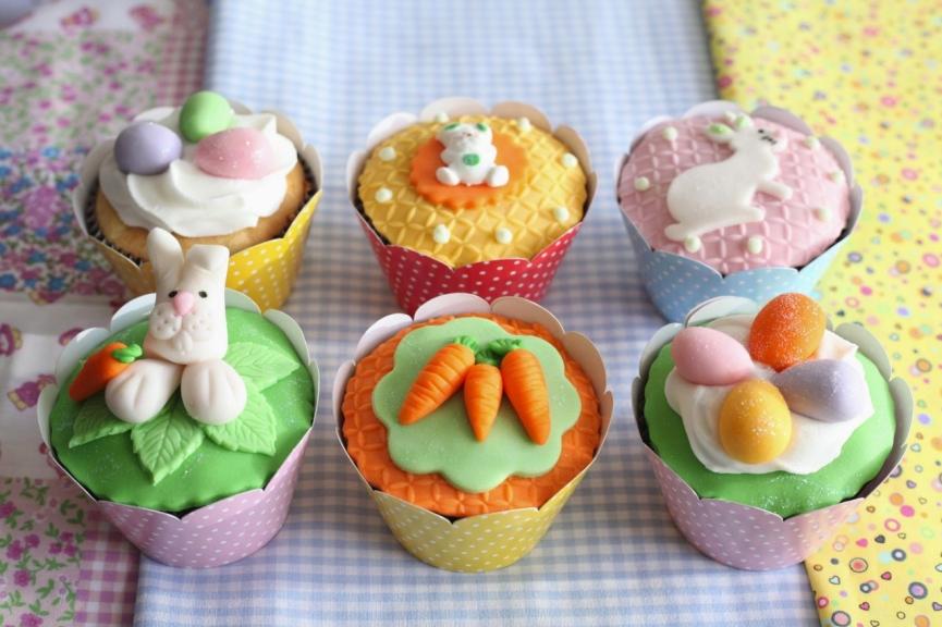 Decoração de Páscoa criativa cupcakes e sobremesas