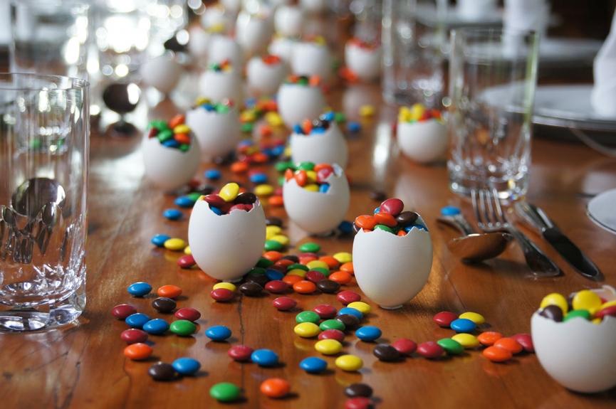 Decoração de Páscoa criativa na mesa