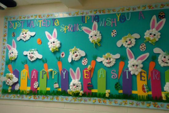 Decoração de Páscoa na escola 1