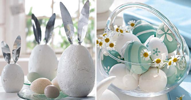 Decoração e enfeites de Páscoa com casca de ovo
