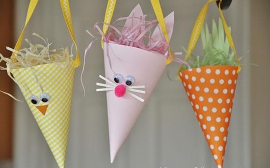 Enfeites para decoração de páscoa com papel