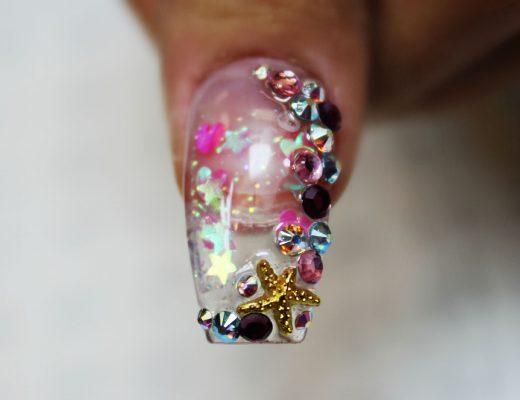 aquário nail art