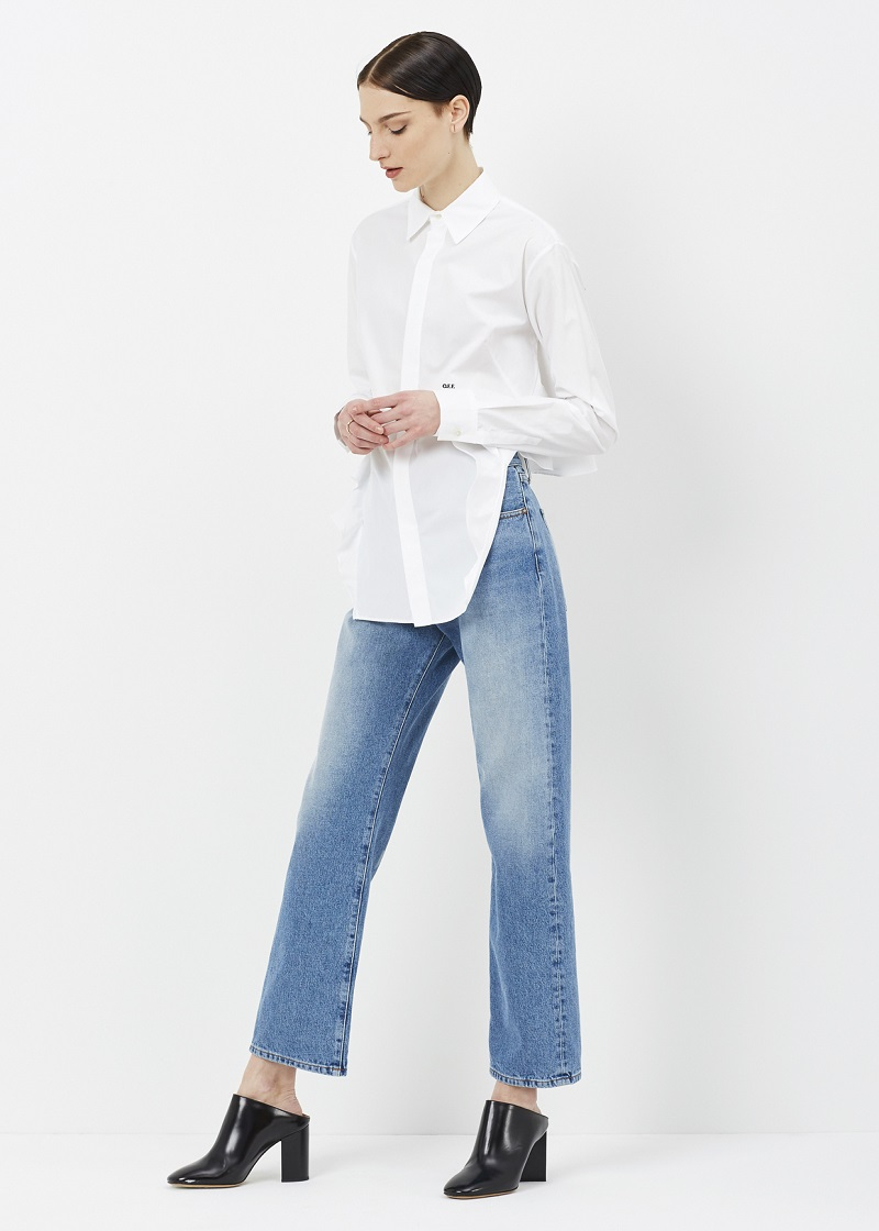 calça jeans reta tendência