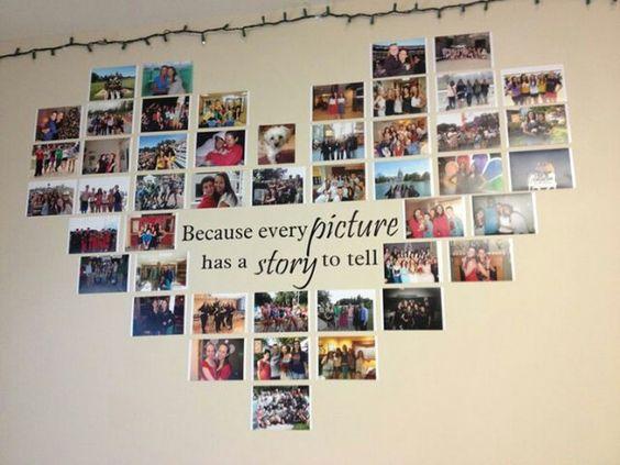Adesivo com suas fotos em formato de coração