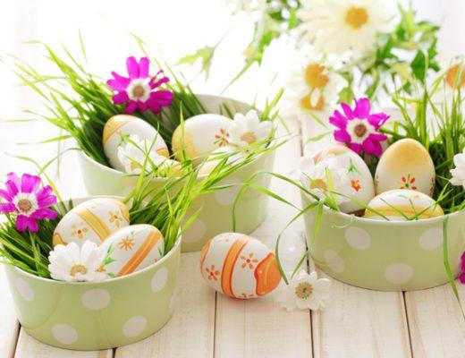 decoração de páscoa com ovos de galinha