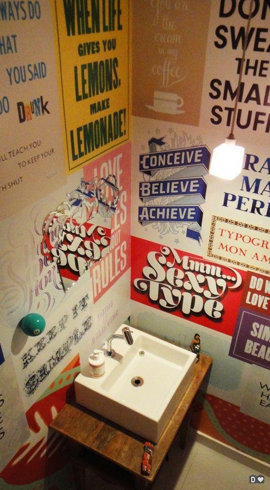 decoração de parede com cartaz