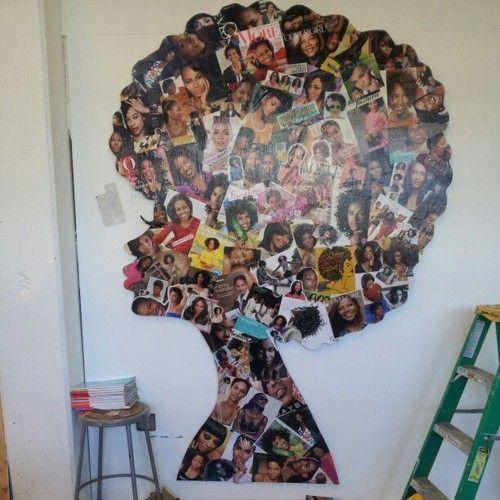 decoração de parede com fotos de revistas