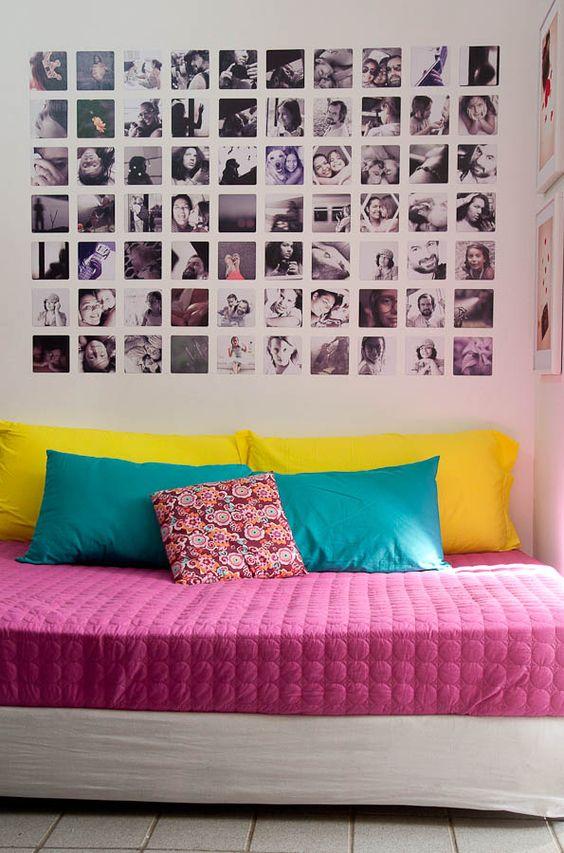decoração de parede com fotos