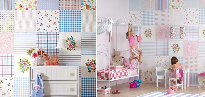 decoração de parede com patchwork