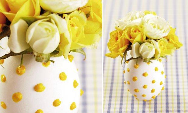 ovo decorado com flores páscoa