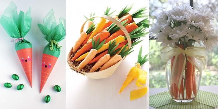 páscoa decoração cenoura