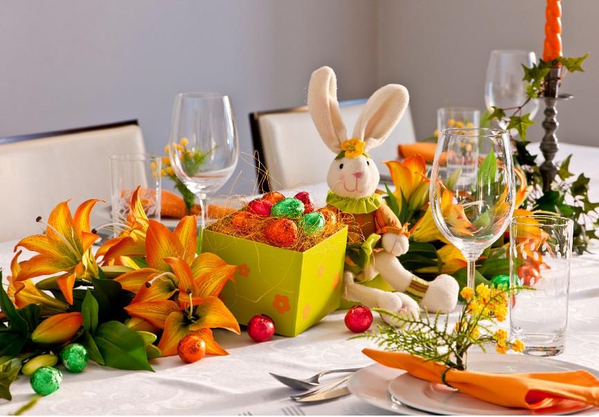 pascoa decoração mesa
