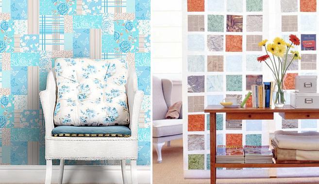 patchwork como decoração de parede 1