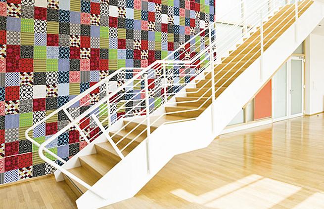 patchwork como decoração de parede