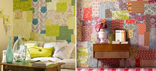 patchwork nas paredes de casa