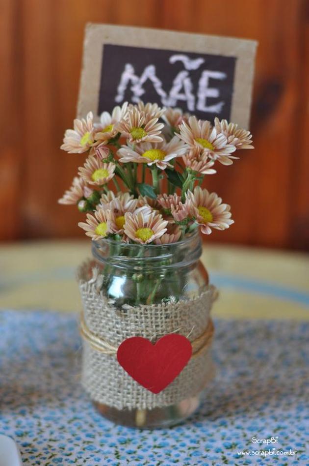 presentes dia das mães faça você mesmo vaso de flores