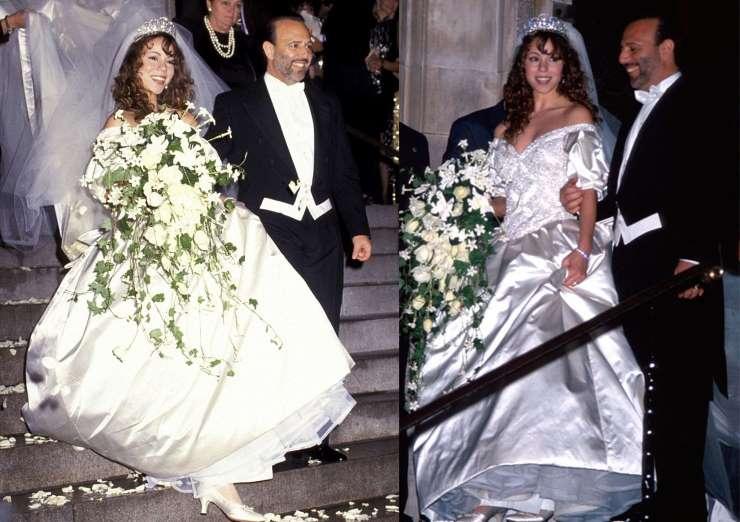 Mariah Carey vestido de casamento