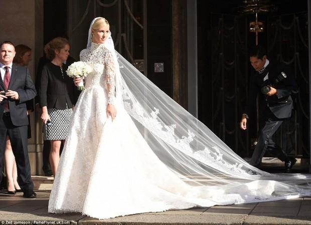 Nicky Hilton Vestido de casamento