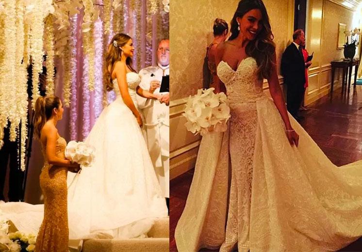 Sofia Vergara vestido de casamento