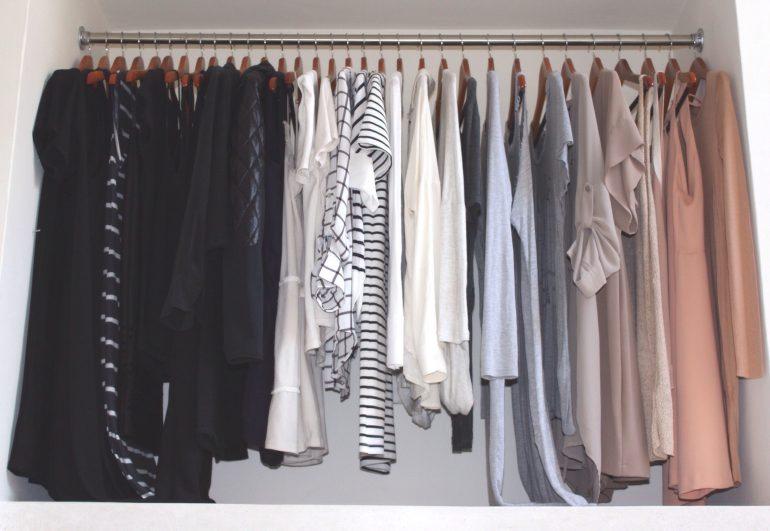 armário minimalista combinação de cores