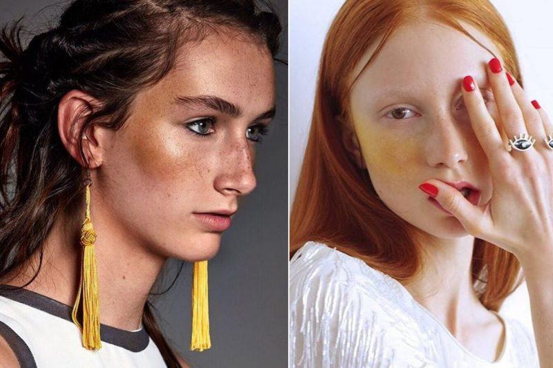 blush amarelo make up
