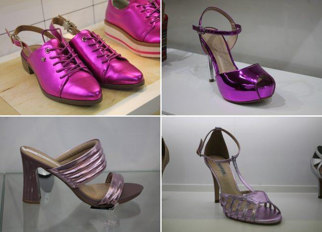 calçados metalizados verão 2018