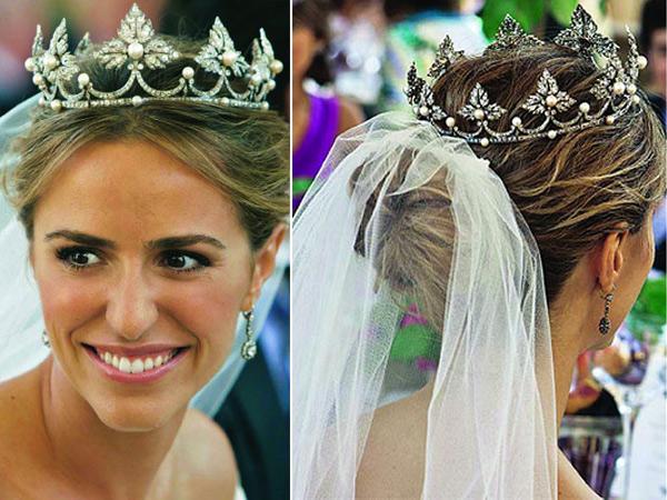 coroa com véu para casamento