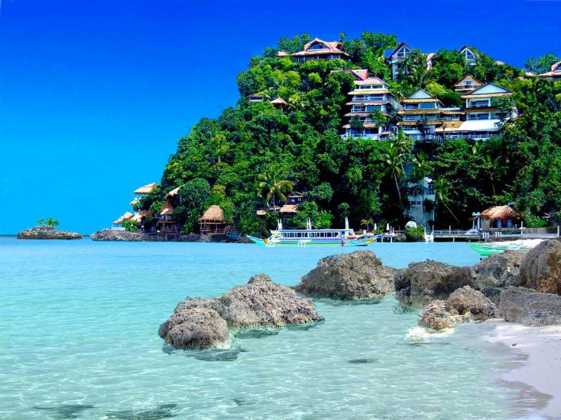 ilha de Boracay nas Filipinas